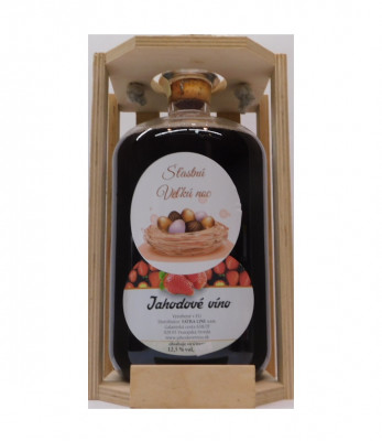 Ovocné víno 1,5l + drevená krabica  Veľká noc