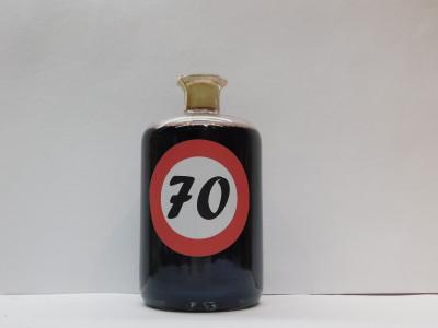 Ovocné víno 0,7l s etiketou rok 70