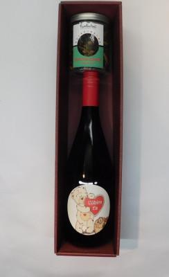 Royal ovocné víno 0,75l Valentín 3 + čaj ovocná bomba 100g