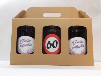 Darčekové balenie 3 x 0,7 l narodeniny 60