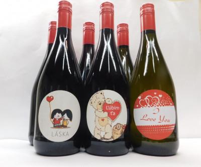 Royal ovocné víno 0,75l  Valentín 6 ks mix