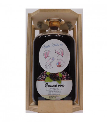 Ovocné víno 1,5l + drevená krabica  Veľká noc 2