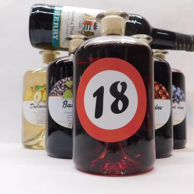 Ovocné víno 0,7 l 5 ks mix  ROK + SHERRY 0,75l ZADARMO