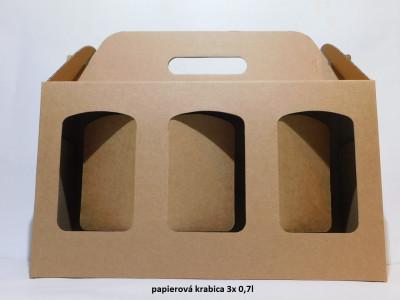 papirová krabica 0,7l na 3 flaše