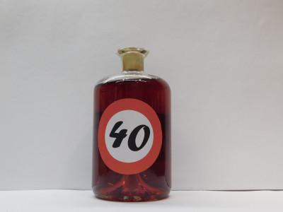 Ovocné víno 0,7l s etiketou rok 40