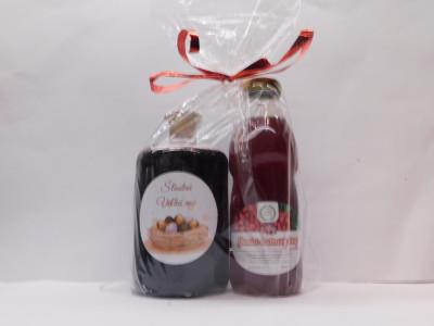 Ovocné víno 0,7 l + malinový sirup 0,5l Veľká noc
