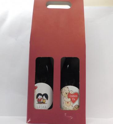 Royal ovocné víno 2 X 0,75l Valentín 3 + Valentín 1 + papierová krabica