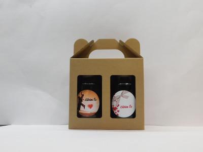 Darčekové balenie 2 x 0,2l láska 2