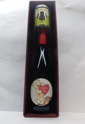Royal ovocné víno 0,75l Valentín 3 + čaj osviež sa 70g