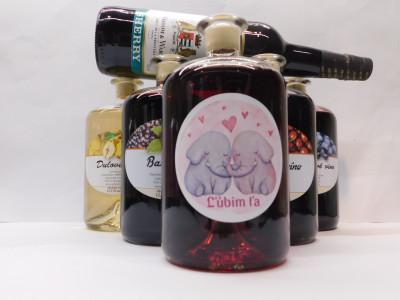 Ovocné víno 0,7 l 5 ks mix Láska + SHERRY 0,75l ZADARMO