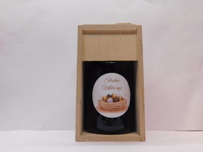 Ovocné víno 0,7 l + drevená krabica Veľká noc