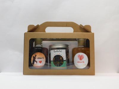 Ovocné víno  2 x 0,2 l Vianoce  + sypaný čaj Ovocná bomba 100g + papierová krabica