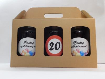 Darčekové balenie 3 x 0,7 l narodeniny 20 maďarské