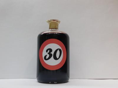 Ovocné víno 0,7l s etiketou rok 30