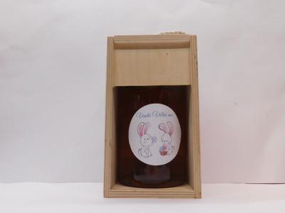 Ovocné víno 0,7 l + drevená krabica Veľká noc 2