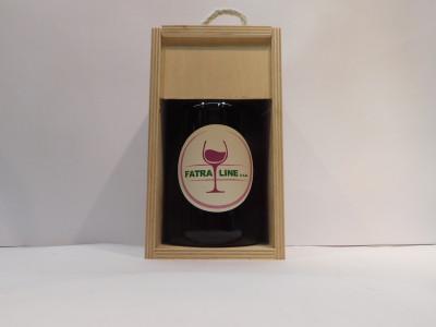 Firemné víno 0,7 l + drevená krabica