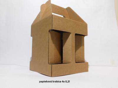 papirová krabica 0,2l na 2,3 alebo 4 flaše