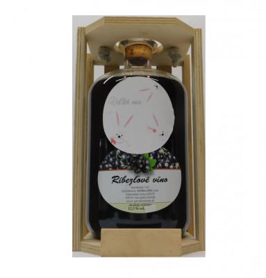 Ovocné víno 1,5l + drevená krabica  Veľká noc 1