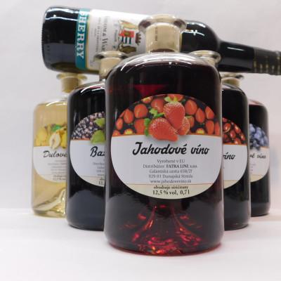 Ovocné víno 0,7 l 5 ks mix  + Sherry 0,75l ZADARMO