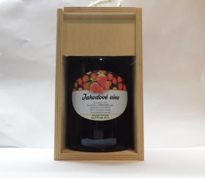 Darčekové balenie 0,7l drevená krabica